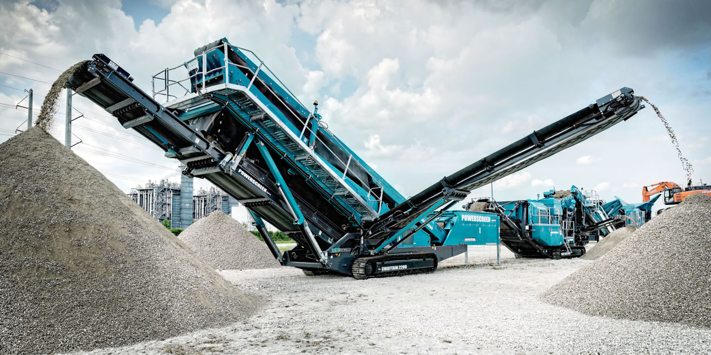 PPM Ltd. Recycling Machine Powerscreen Warrior 800 Hire in UK