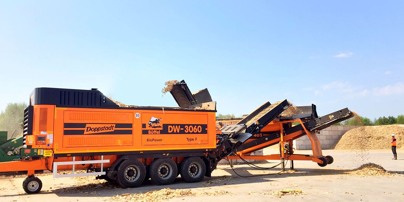 PPM Ltd. Recycling MachineDoppstadt DW 3060 Type F Bio Hire in UK